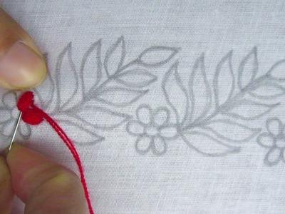 Hand Embroidery, New Border Line Design for Kamij, Nakshi Katha Border Design