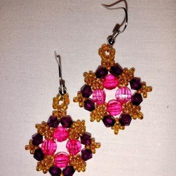 Handmade Diamond Shape Earrings