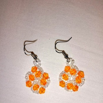 Handmade Orange Colour Earrings