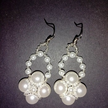 Handmade Pearl Earrings Fashion Accessories Jewellery