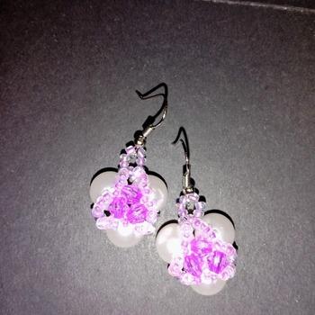 Handmade Pearl Earrings Fashion Accessories Jewellery