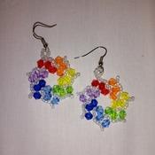 Handmade Rainbow Earrings Fashion Accessories Jewellery