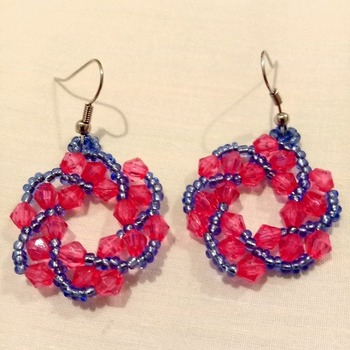 Handmade Twist Round Earrings