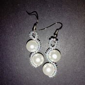 Handmade White Pearl Earrings