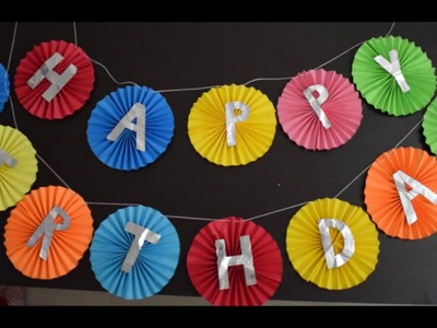 Happy Birthday Tag Making#Birthday Decorations#using craft papers and foil paper