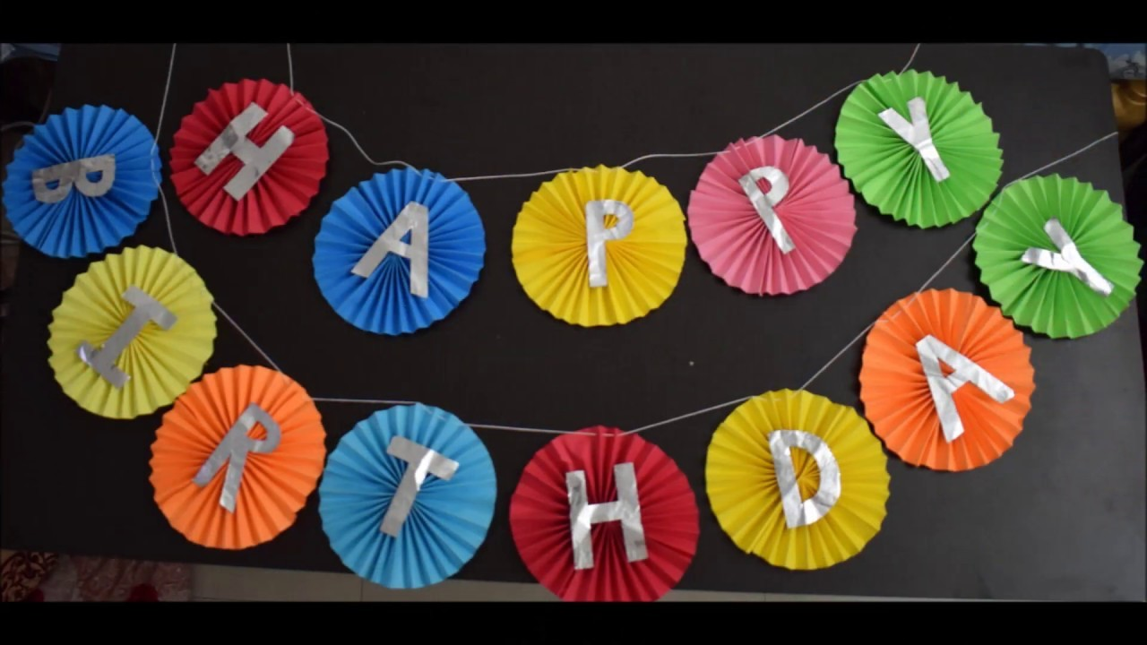 Happy Birthday Tag MakingBirthday Decorationsusing Craft Papers And Foil Paper