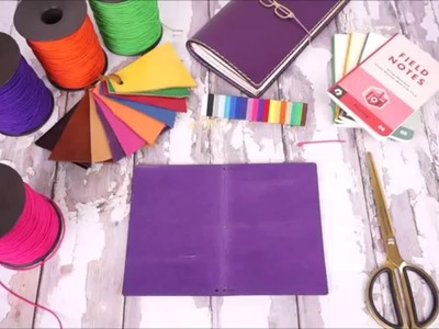How to change or tie the traveler's notebook elastic band