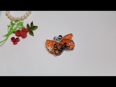 How to make a beautiful handmade quilling paper butterfly????by GS Craft.