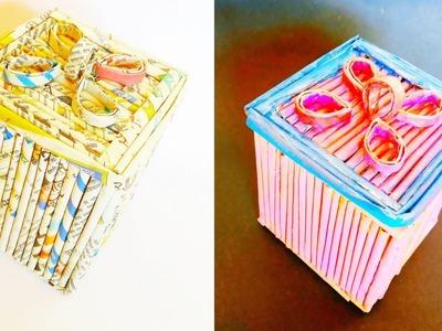 Box How To Make A Jewellery Box Using Newspaper Newspaper Craft
