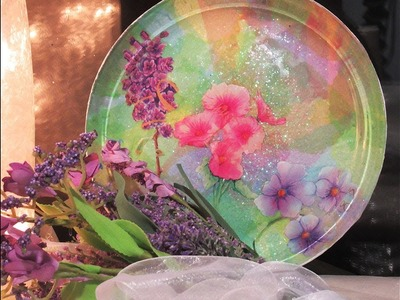 How To Make a Shimmering Easter Plate!