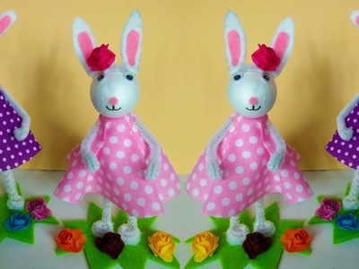 How to make an Easter bunny. Cute, DIY Easter craft idea