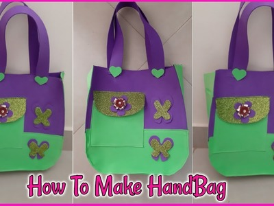 How to make handbag from craft plastic | beautiful handbag cutting and stitching