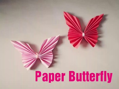 How to make Paper Butterfly. Origami. Paper Craft Ideas. Creative Corner