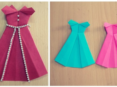 How To Make Paper Dress | Origami Disney Princess Dress | DIY | Paper Craft