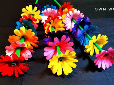 How To Make Paper Flower - DIY Paper Craft-Gift Flower, mother's day gift