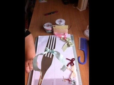 Make Ribbon Bows using a Hair Comb or Dinner Fork!