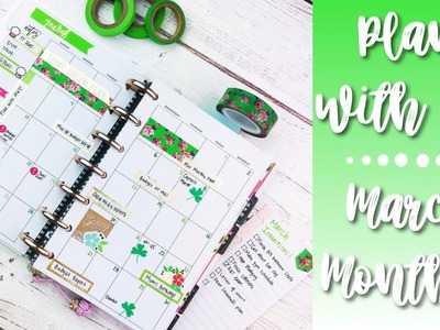 March 2019 Monthly Plan w. Me! | Using Happy Planner Mini Seasonal Sticker Book!
