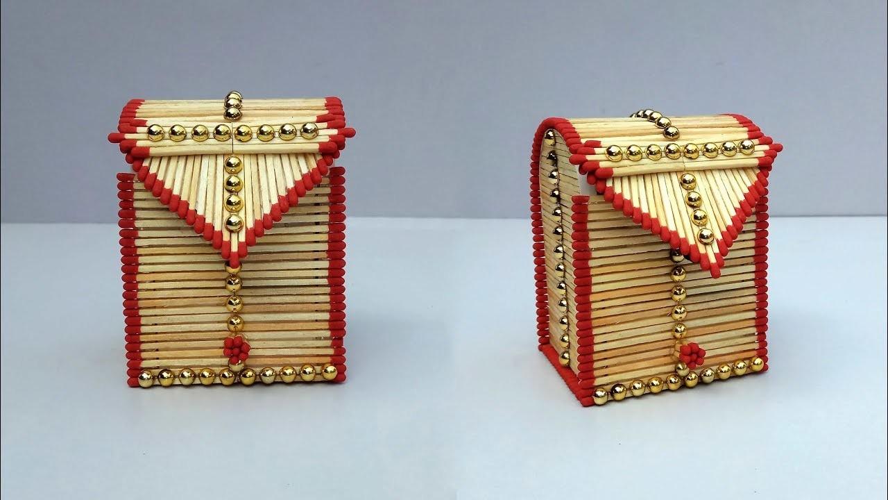 Matchstick Art and Craft Ideas | New Design Diy Matchstick Jewellery Box