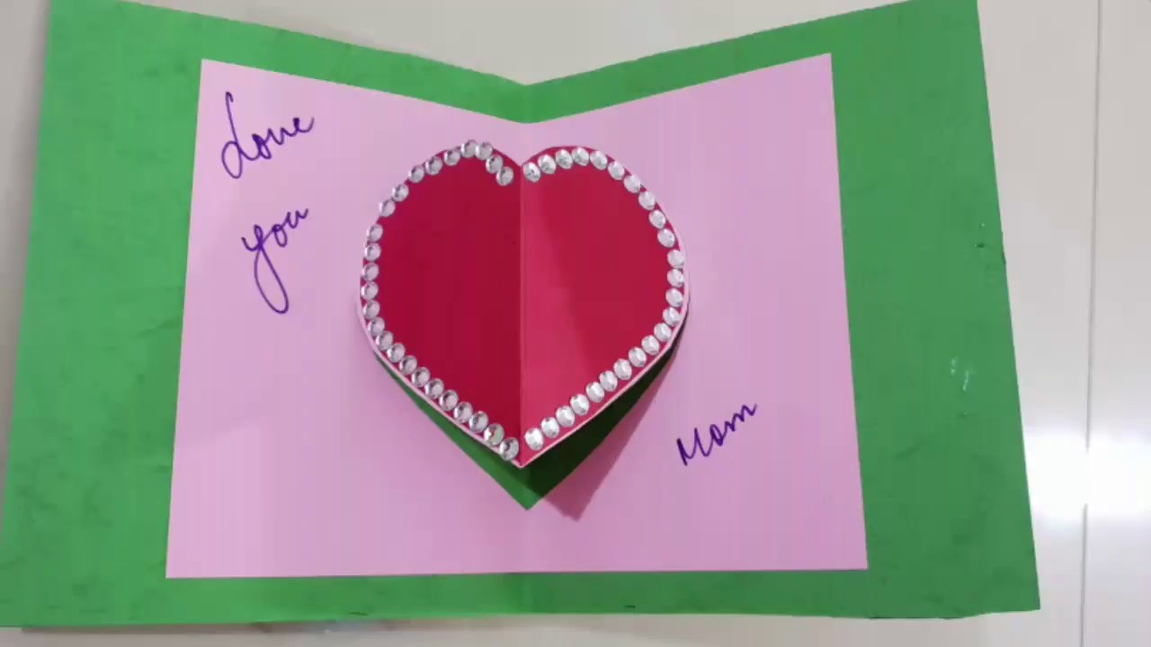 Mother's Day Greeting Card.DIY.Pop up Greeting cards.Mothers day craft ideas.Greeting cards