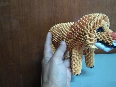 Papercraft 3d origami lion tutorial Part 3