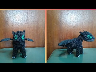 Papercraft 3d origami toothless night fury tutorial part 2