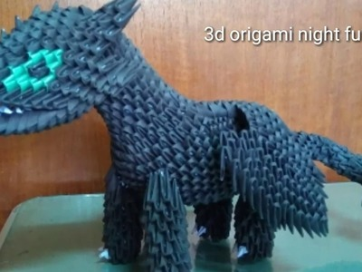 Papercraft 3d origami toothless night fury dragon tutorial part 3