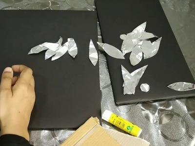 അലൂമിനിയം ഫോയിൽ വെച്ച് ഒരു സിമ്പിൾ ക്രാഫ്റ്റ്  || Simple Craft Using Aluminium Foil in Malayalam