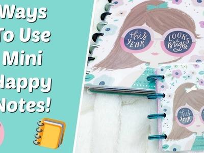 Ways To Use Happy Planner Mini Happy Notes!