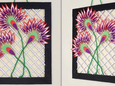 Wow !!! Colorful Frame Design For Room Decoration | DIY Craft Idea