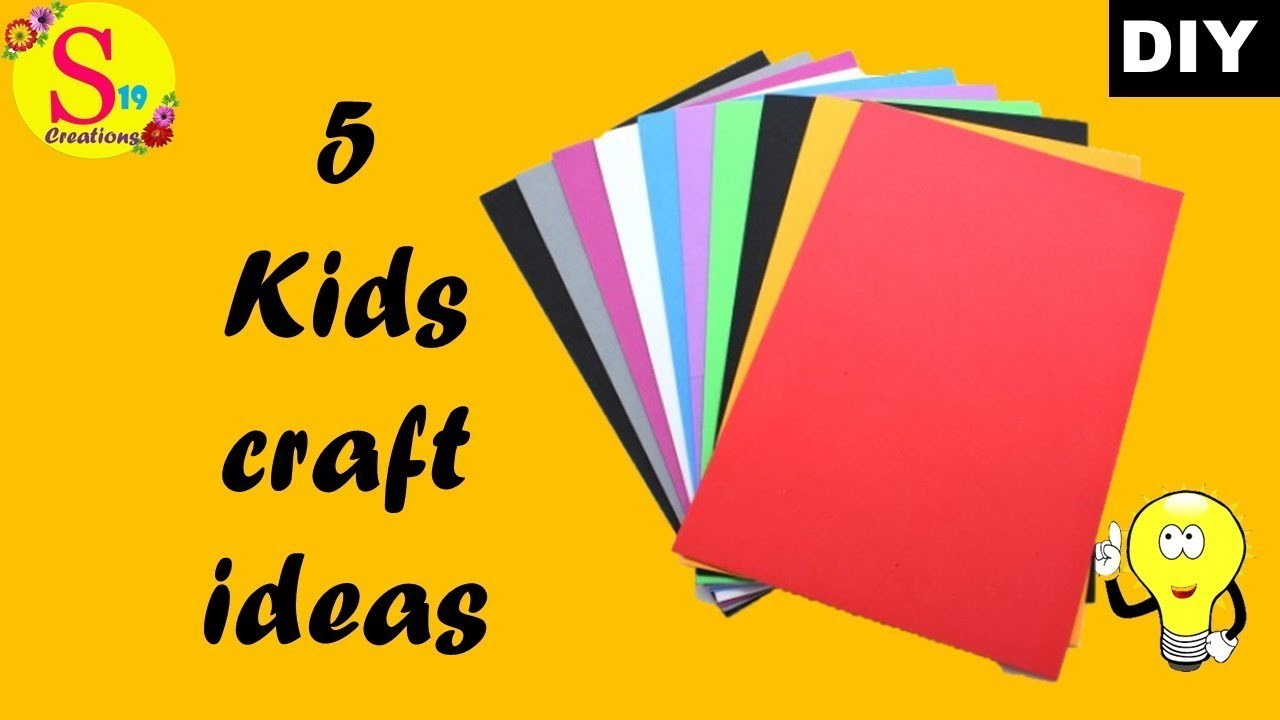 5 paper crafts for kids  | origami  step by step | craft ideas with paper easy for kids