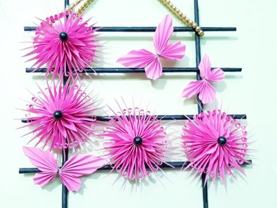 Art and Craft Ideas. DIY Wall Decoration Craft Idea Out of Origami Paper
