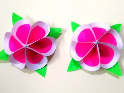 Beautiful DIY PAPER CRAFT.amazing flower design for home decoration.kagaj ka phool kaise banaye