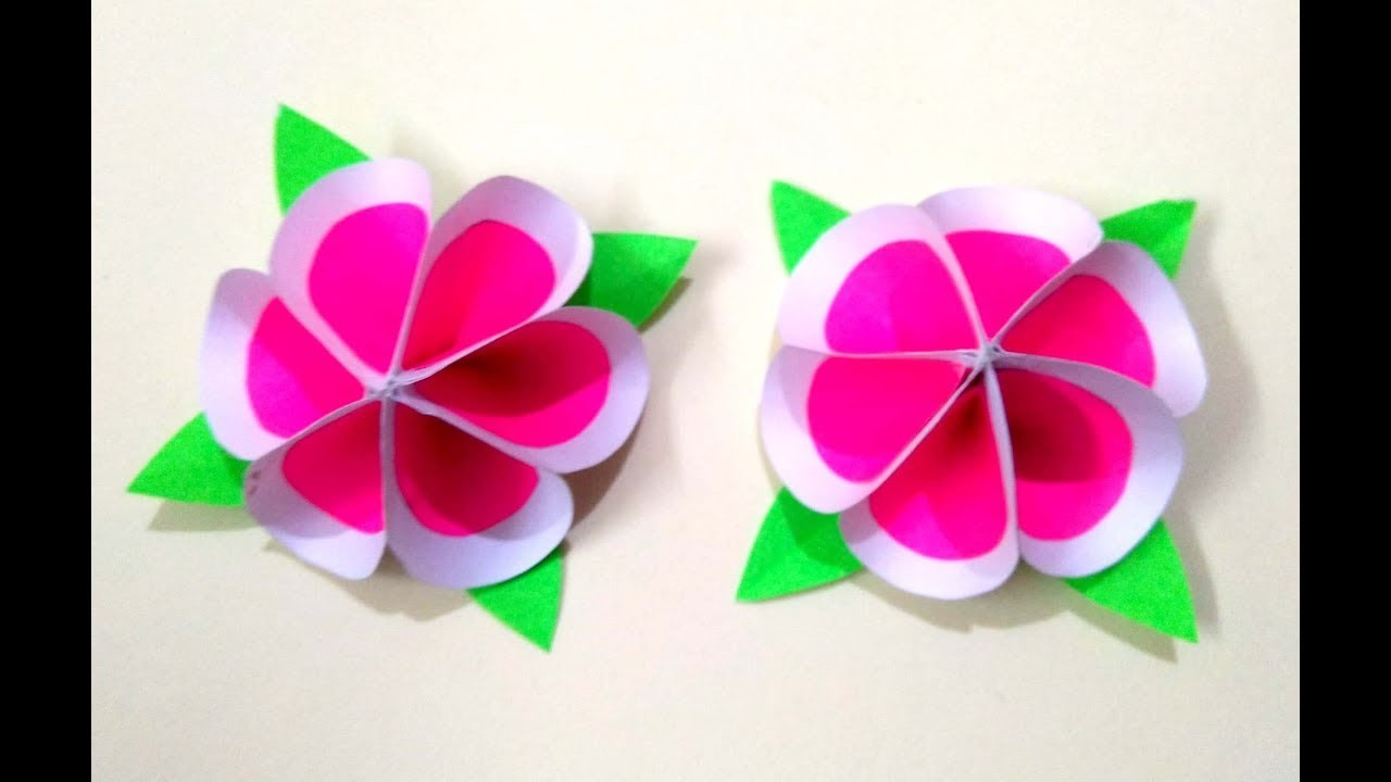 Beautiful DIY PAPER CRAFT.amazing flower design for home ...