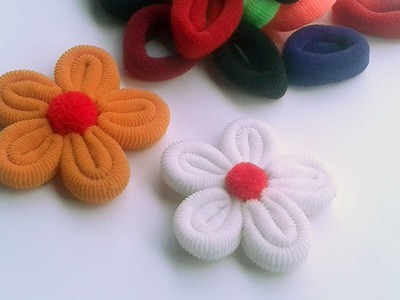 Beautiful Flower With Rubber Band Best Out Of West Craft Idea Flower Making For Room Decoration