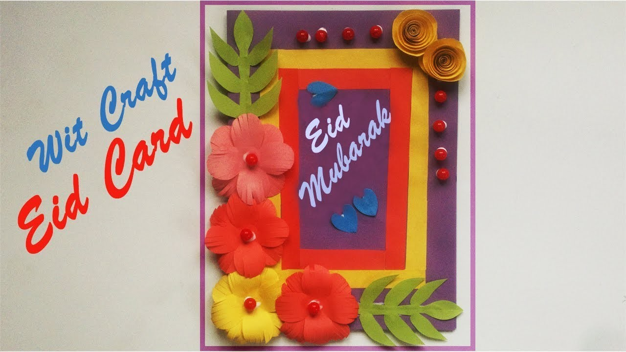 Beautiful Handmade Eid Card Color Paper Eid Card Wit Craft
