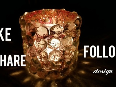 Design Craft: DIY Home Decor Ideas: Amazing Glass beads candle holder