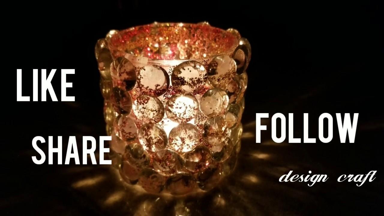 Design Craft: DIY Home Decor Ideas: Amazing Glass beads candle holder