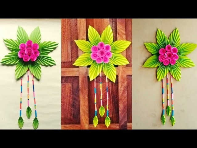 DIY : Beautiful Wall Hanging Craft| PaperFlower Wall Decoration| Paper Flower Craft Ideas