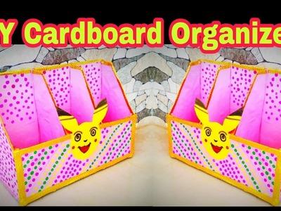 DIY Cardboard Organizer | Desk Organizer |Easy Cardboard Craft