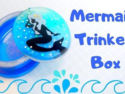 DIY Mermaid Trinket Box with Swivel Lid | Resin Craft