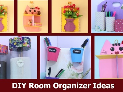 DIY Room Organizer Idea | Best Cardboard Craft idea | Waste material reuse idea by Aloha Crafts