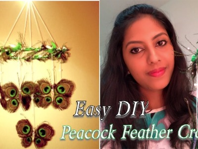DIY Wall Hanging || Peacock Feather Craft || Easy Home Decoration Ideas