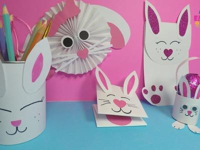 Easy Paper Bunny Craft for Kids | DIY Easter Paper Crafts