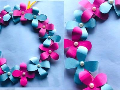 Easy paper craft : wall decor flower wreath - 2019 room decor