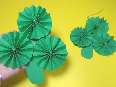 How to Make a Paper Shamrock Decoration | St Patrick's Day Craft for Kids