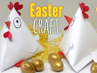 How to Make a Spring Chicken Favour Box - Easy Easter Craft