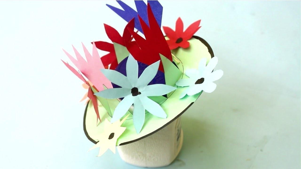 How To Make Flowers Vase Easy Flower Making Art Craft For Home