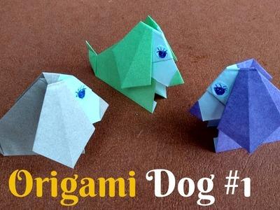 How To Make Origami Cute Dog | Diy Craft Origami Dog #1 | Home Diy Crafts Paper