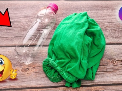 How to Reuse waste Plastic bottle and Leggings at home | Cool Craft ideas | Artkala