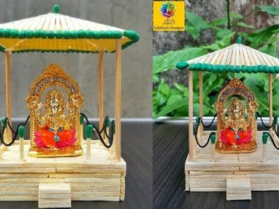 Matchstick Art and Craft Ideas   God Temple (Mandir) with Matchsticks   Handmade Temple Craft Idea